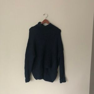 Cozy Navy Turtleneck Sweater